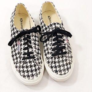 SUPERGA Canvas Lace Up Sneakers Sz 8 Black/White
